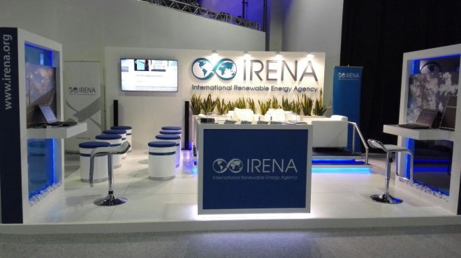 IRENA Think Science booth