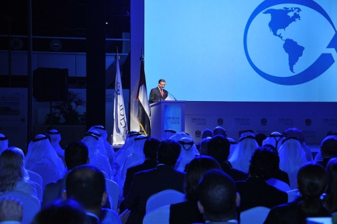 IRENA Director-General Adnan Z. Amin speaking at the inaugural event