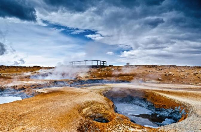 icelanic-landscape-showing-hot-springs