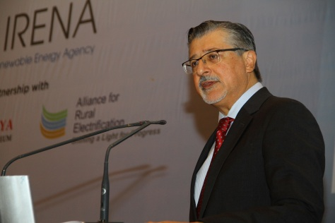 IRENA Director-General Adnan Z. Amin addresses opening of International Off-Grid Renewable Energy Conference