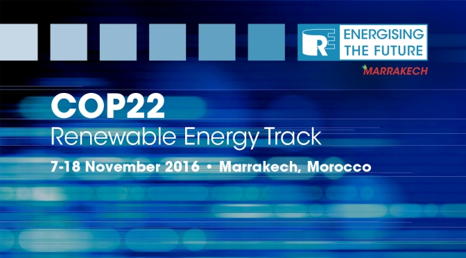 Renewable Energy and IRENA at COP22