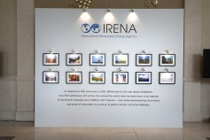 Winning photos from IRENA's 2016 Photo Competition were exhibited outside the Assembly's plenary.